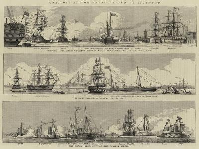 Sketches at the Naval Review at Spithead-William Edward Atkins-Giclee Print