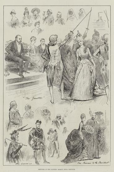 Sketches at the Painters' Masque, Royal Institute-Henry Stephen Ludlow-Giclee Print