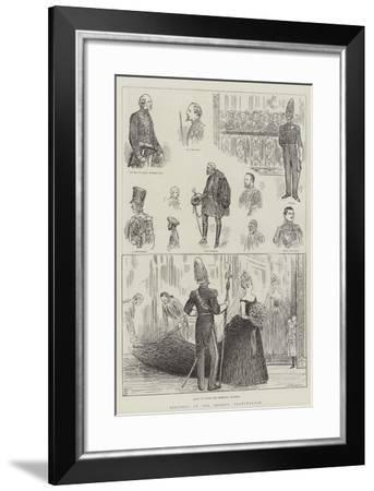 Sketches at the Queen's Drawingroom--Framed Giclee Print
