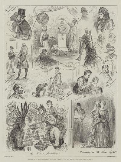 Sketches at the Rehearsal for the Tableaux of the Royal Institute Costume Ball-Henry Stephen Ludlow-Giclee Print