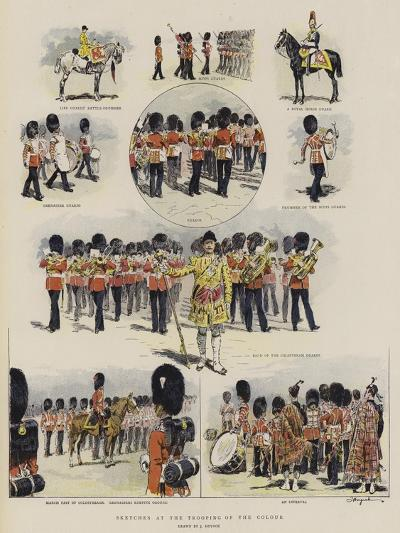 Sketches at the Trooping of the Colour--Giclee Print