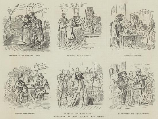 Sketches at the Vienna Exhibition--Giclee Print