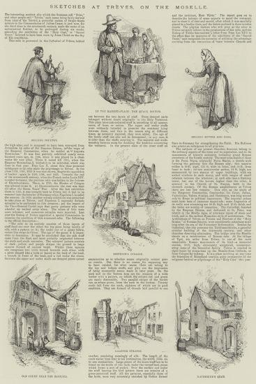 Sketches at Treves, on the Moselle--Giclee Print