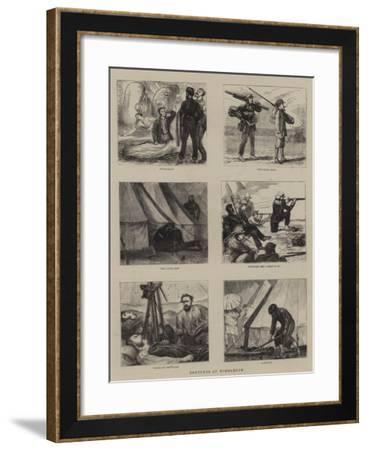 Sketches at Wimbledon-Joseph Nash-Framed Giclee Print