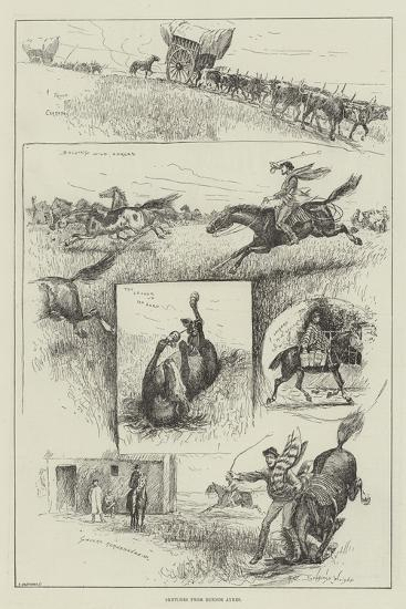 Sketches from Buenos Ayres-Henry Charles Seppings Wright-Giclee Print