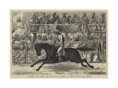 Sketches from India, the Preliminary Center at an Up-Country Race Meeting--Giclee Print