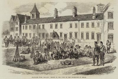 Sketches from Ireland, Troops in the Yard of the Poorhouse at Kells--Giclee Print
