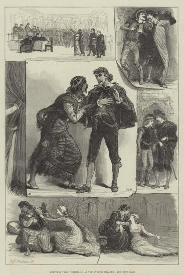 Sketches from Othello, at the Lyceum Theatre-Francis S. Walker-Giclee Print
