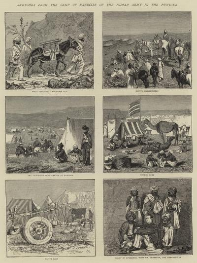 Sketches from the Camp of Exercise of the Indian Army in the Punjaub-Alfred Chantrey Corbould-Giclee Print