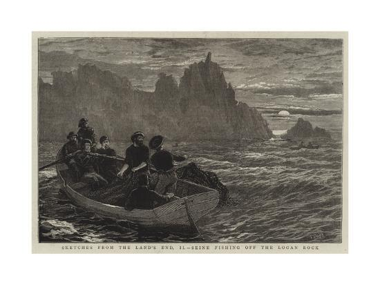 Sketches from the Land's End, Ii, Seine Fishing Off the Logan Rock-Frank Dadd-Giclee Print