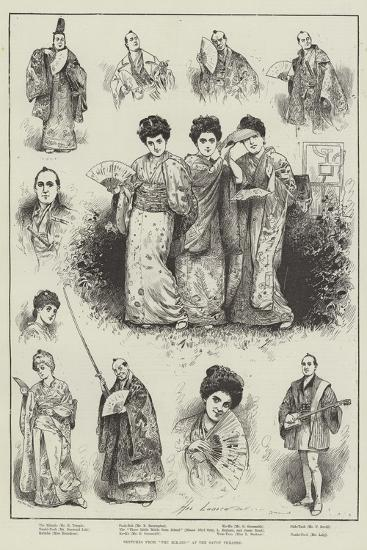 Sketches from The Mikado at the Savoy Theatre-Henry Stephen Ludlow-Giclee Print