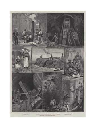 Sketches in a Cornish Tin-Mine--Giclee Print