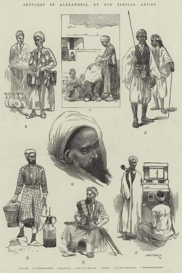 Sketches in Alexandria-Charles Auguste Loye-Giclee Print
