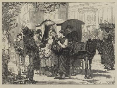 Sketches in Berlin, a Seltzer-Water Cart--Giclee Print