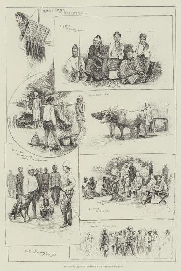 Sketches in Burmah, Dealing with Captured Dacoits-Henry Charles Seppings Wright-Giclee Print