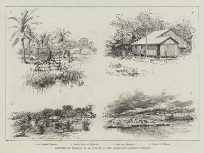 Sketches in Burmah-Amedee Forestier-Giclee Print