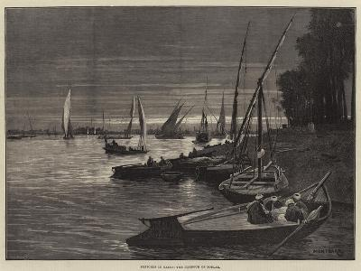 Sketches in Cairo, the Harbour of Boulak-Charles Auguste Loye-Giclee Print