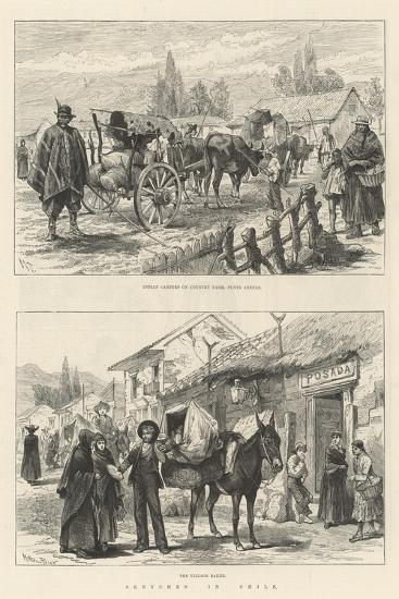 Sketches in Chile-Melton Prior-Giclee Print
