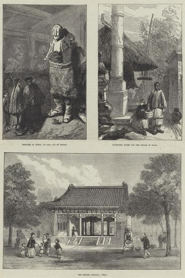 Sketches in China--Giclee Print