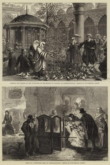 Sketches in Constantinople--Giclee Print