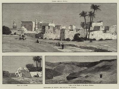 Sketches in Egypt, the Ruins of Thebes-Charles Auguste Loye-Giclee Print