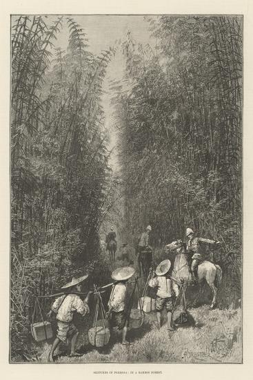 Sketches in Formosa, in a Bamboo Forest-Amedee Forestier-Giclee Print