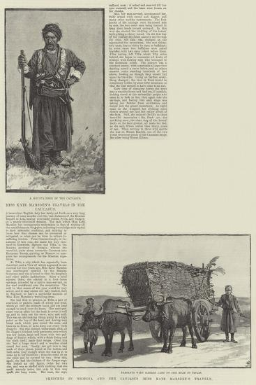 Sketches in Georgia and the Caucasus, Miss Kate Marsden's Travels--Giclee Print