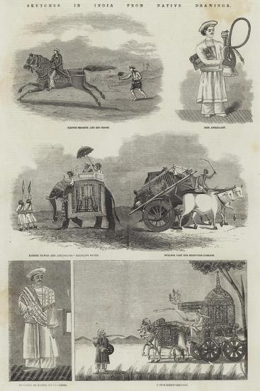 Sketches in India from Native Drawings--Giclee Print