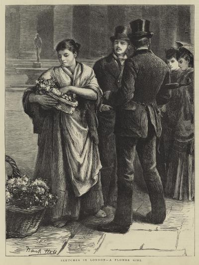Sketches in London, a Flower Girl-Frank Holl-Giclee Print