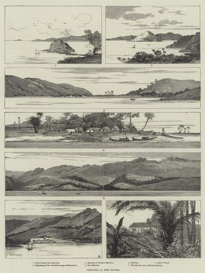 Sketches in New Guinea-Charles Auguste Loye-Giclee Print