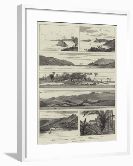 Sketches in New Guinea-Charles Auguste Loye-Framed Giclee Print