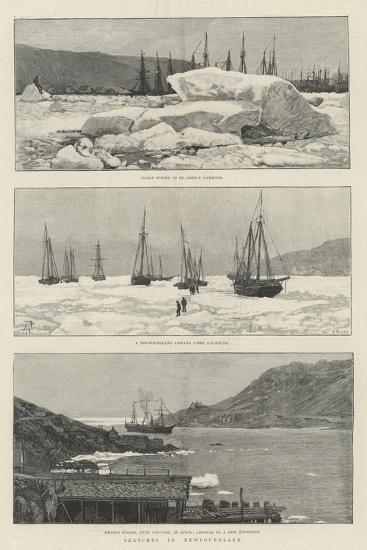 Sketches in Newfoundland-Amedee Forestier-Giclee Print