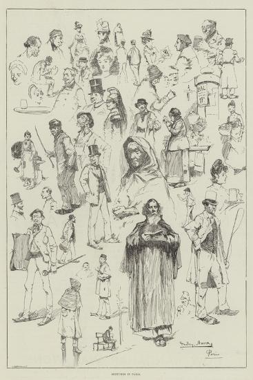 Sketches in Paris-David Hardy-Giclee Print