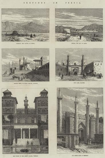 Sketches in Persia--Giclee Print
