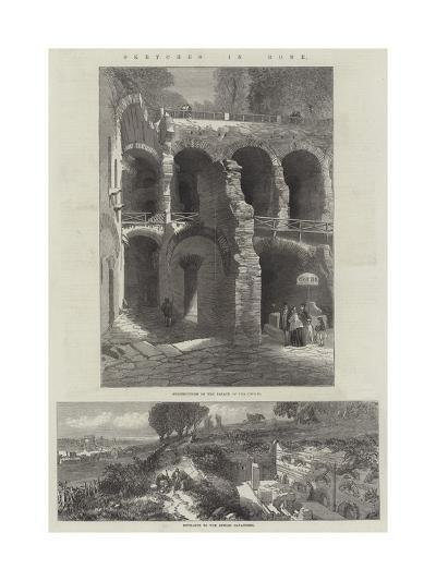Sketches in Rome--Giclee Print