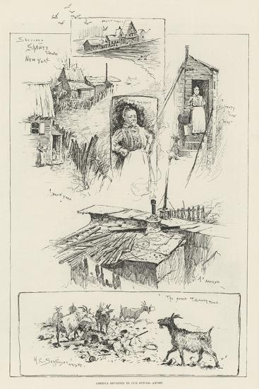 Sketches in Shanty Town, New York-Henry Charles Seppings Wright-Giclee Print
