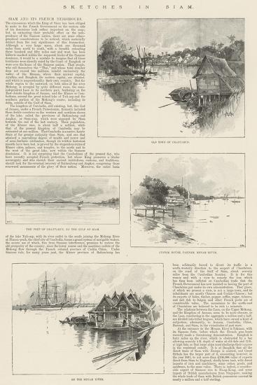 Sketches in Siam-Charles Auguste Loye-Giclee Print