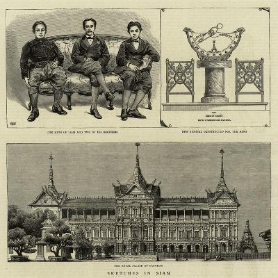 Sketches in Siam--Giclee Print