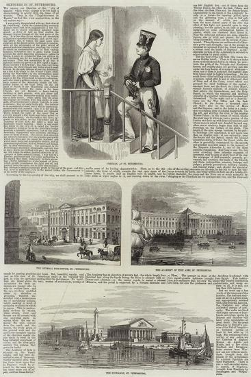Sketches in St Petersburg--Giclee Print
