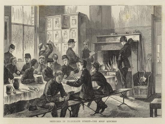 Sketches in Telegraph Street, the Boys' Kitchen--Giclee Print