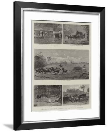 Sketches in the Back Country, New South Wales, Australia--Framed Giclee Print