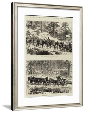 Sketches in the Colorado Mining Districts, North America--Framed Giclee Print