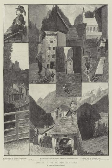Sketches in the Engadine and Tyrol-Amedee Forestier-Giclee Print