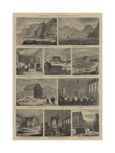 Sketches in the Faroe Islands--Giclee Print