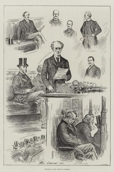 Sketches in the House of Commons-Henry Stephen Ludlow-Giclee Print
