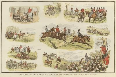 Sketches in the Hunting Field-John Charlton-Giclee Print
