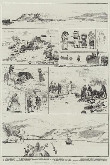 Sketches in the Isle of Skye, the Crofters' Land League--Giclee Print