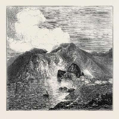 Sketches in the Lipari Islands: View of Great Crater--Giclee Print