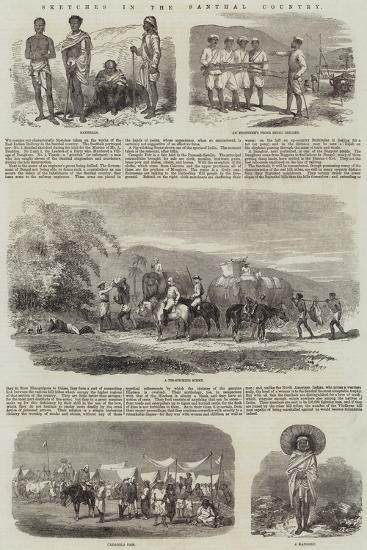Sketches in the Santhal Country--Giclee Print