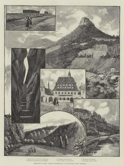 Sketches in the Saxon Switzerland, on the Elbe, Above Dresden--Giclee Print